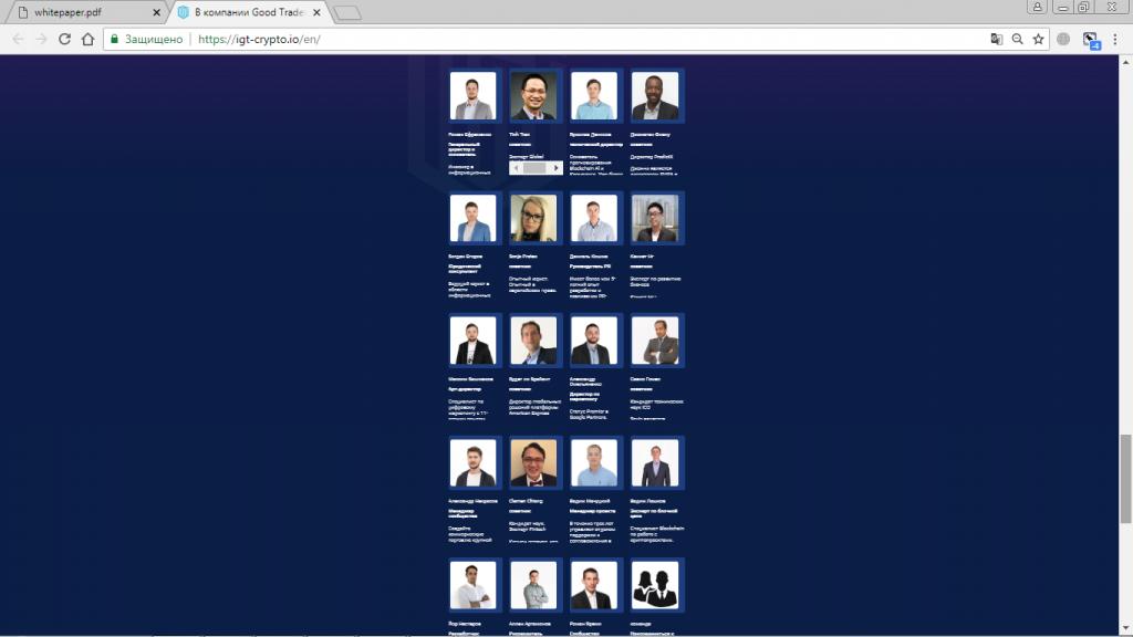 команда проекта IGT-crypto
