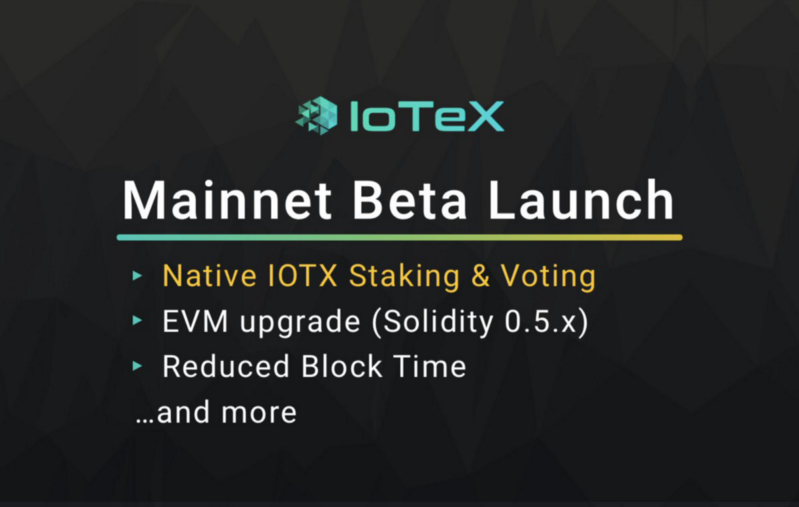 Mainnet Beta IoTeX