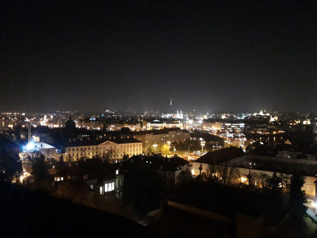 Ночная Прага Чехия
