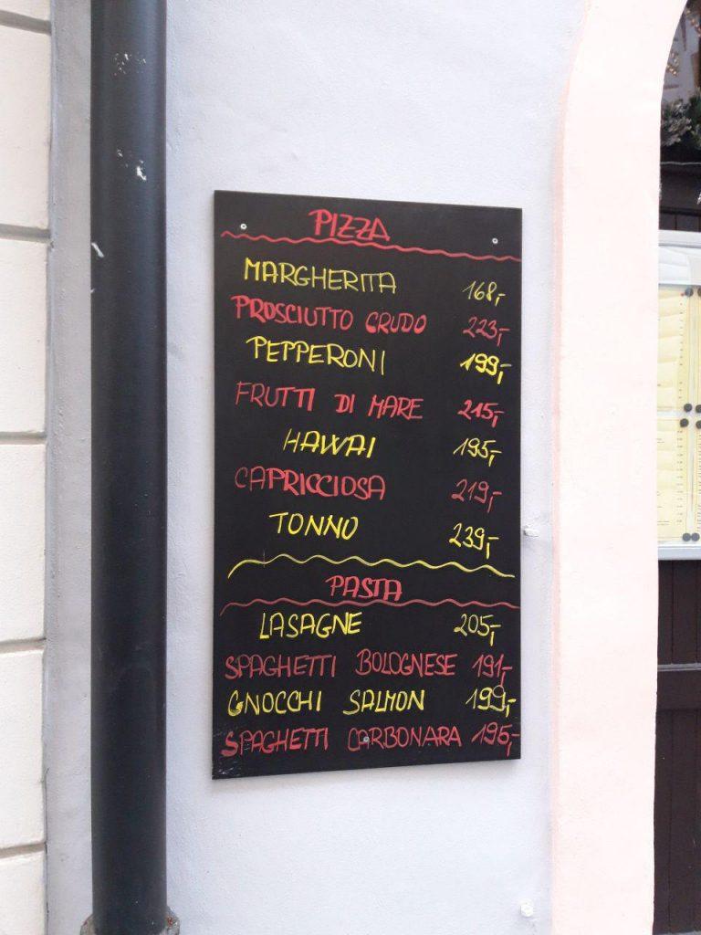 цены в пражских кафе